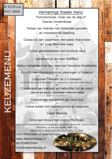 vermanings theatermenu 2017